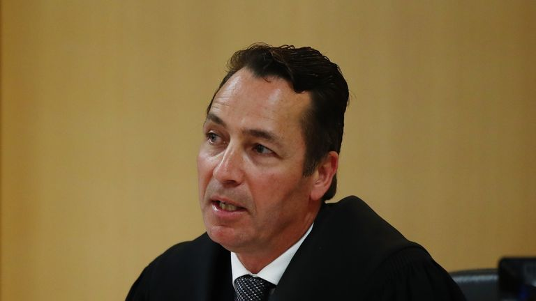 Judge Evangelos Thomas makes remarks on December 10, 2018 in Auckland, New Zealand