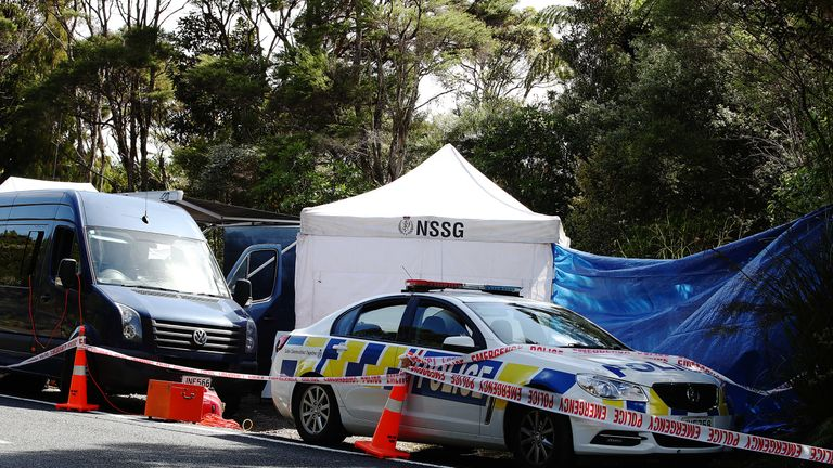 AUCKLAND, NEW ZEALAND - DECEMBER 09: The scene where the body of British tourist Grace Millane has been found by New Zealand police in the Waitakere Ranges on December 09, 2018 in Auckland, New Zealand. Police have been investigating the disappearance of 22-year-old British woman Grace Millane after she was last seen on Saturday December 1 in Auckland. (Photo by Hannah Peters/Getty Images)