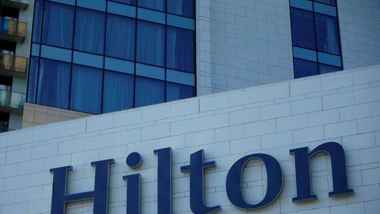 The woman is suing the hotel's owner, Hilton Worldwide, for $100m