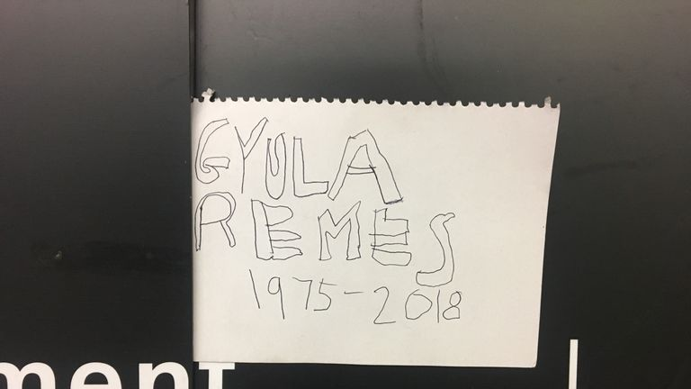 One tribute names the man as Gyula Remes