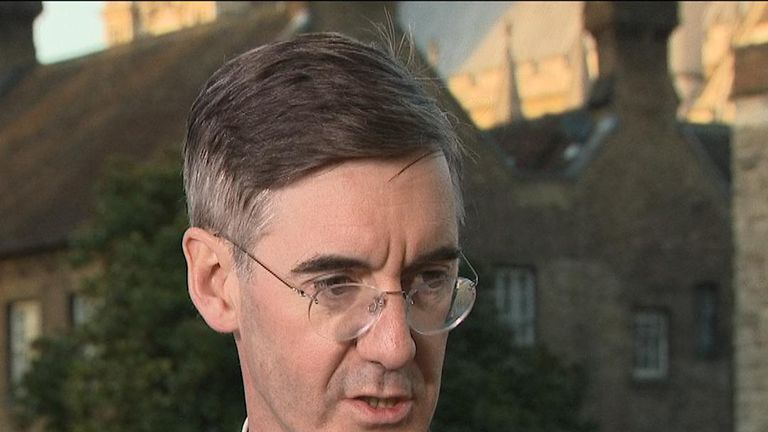 Jacob Rees -Mogg names Boris Johnson as his favoured candidate to take over from Theresa May, should  contest ensue