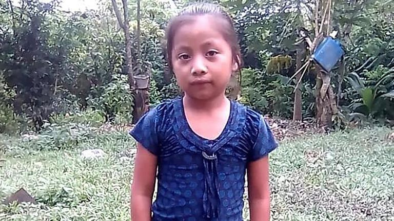 Jakelin Amei Rosmery Caal Maquin died in US custody. Pic: NBC News