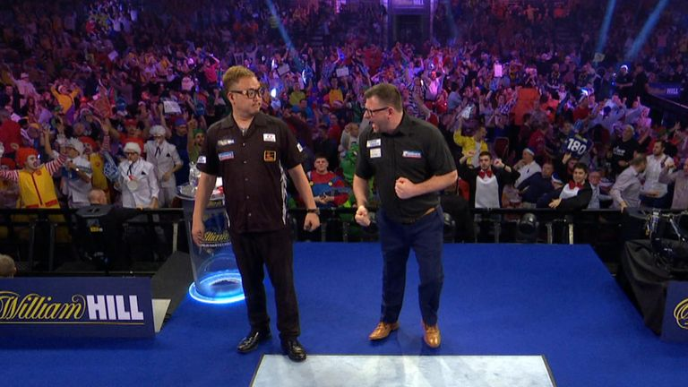 James Wade has apologised for yelling in his opponent's face. Pic: Sky Sports