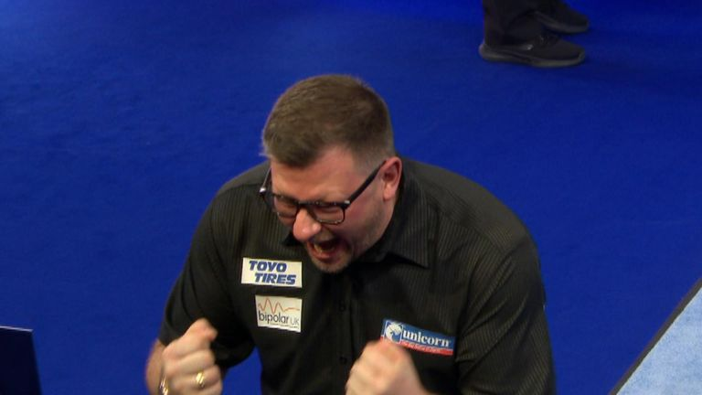 James Wade said he suffered a hypomania episode before the tie. Pic: Sky Sports