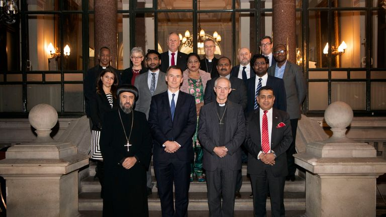 The foreign secretary which church leaders and survivors of Christian persecution