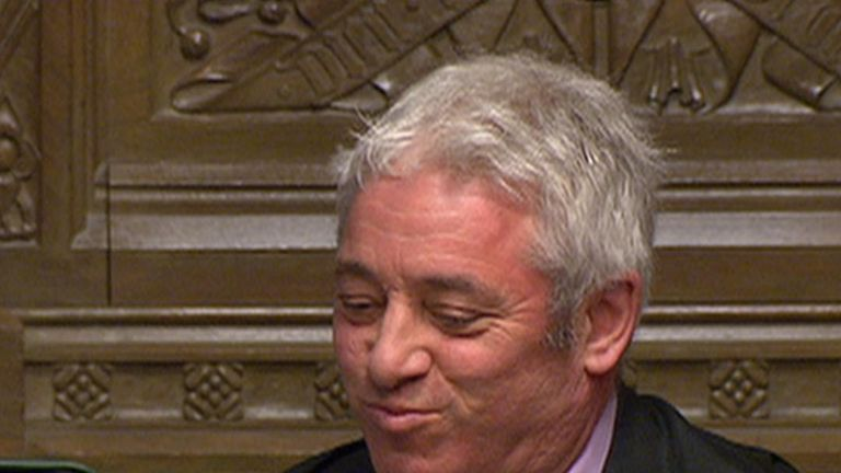 Speaker John Bercow reacts to points of order over an alleged incident involving Jeremy Corbyn