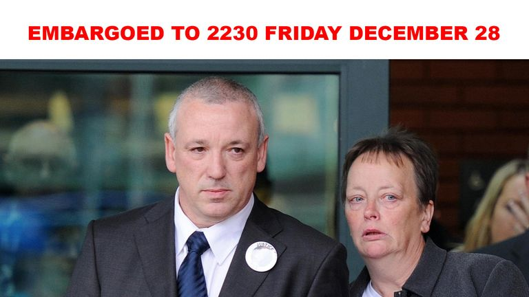 EMBARGOED TO 2230 FRIDAY DECEMBER 28....File photo dated 14/10/10 of John and Penny Clough outside Preston Crown Court after their daughter Jane's killer was jailed. Mr Clough has been made an MBE for services to victims of domestic abuse in the New Year Honours list. PRESS ASSOCIATION Photo. Issue date: Friday December 28, 2018.
