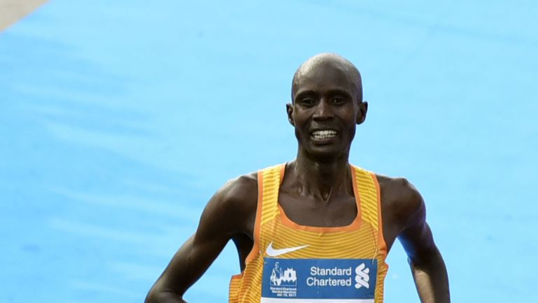 Joshua Kipkorir won the Singapore marathon, while 16 fellow Kenyans came in behind him. File pic.