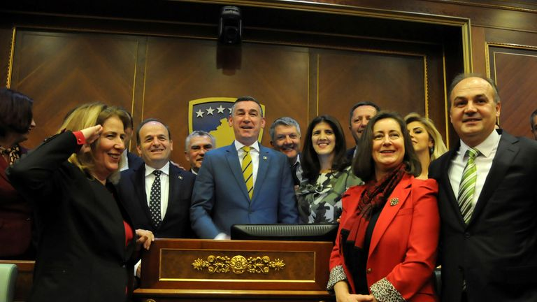 Politicians in Kosovo passed legislation to form the new army