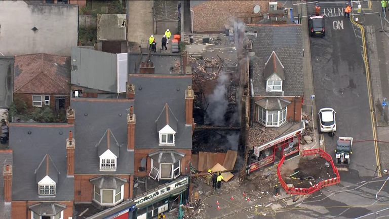 Three men have been found guilty of murder over the deaths of five people in an explosion at a supermarket in Leicester in February.