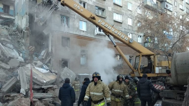 Cries foe help have reportedly been heard from under the rubble