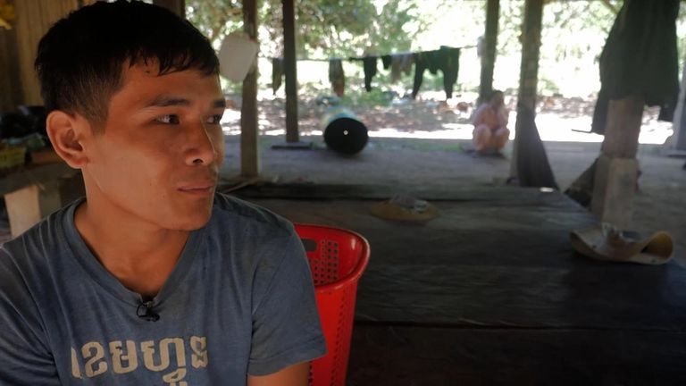 Bun Lai, 22, developed a fever after going to cut wood and tested positive for malaria