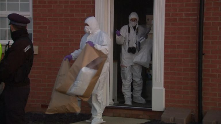 Forensics officers at the house in Margate