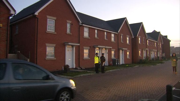 Police were called to the house in the early hours of the morning