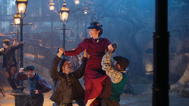 Emily Blunt is Mary Poppins in Dinsey...s original musica MARY. POPPINS RETURNS, a sequel to the 1964 MARY POPPINS which takes audiences on an entirely new adventure with the practically perfect nanny and the Banks family.
