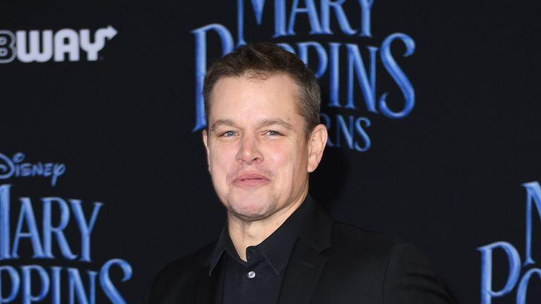 Matt Damon took on the role of David Cameron