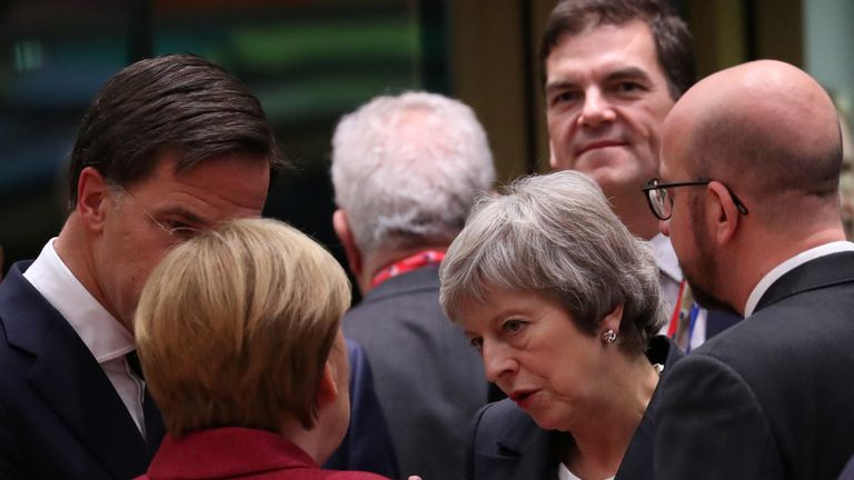 Theresa May speaks to her German counterpart Angela Merkel
