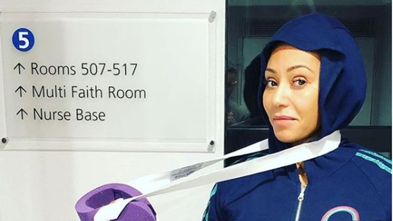 Mel B shared this image and said she had broken ribs and a severed hand following an accident. Pic: @officialmelb/Instagram