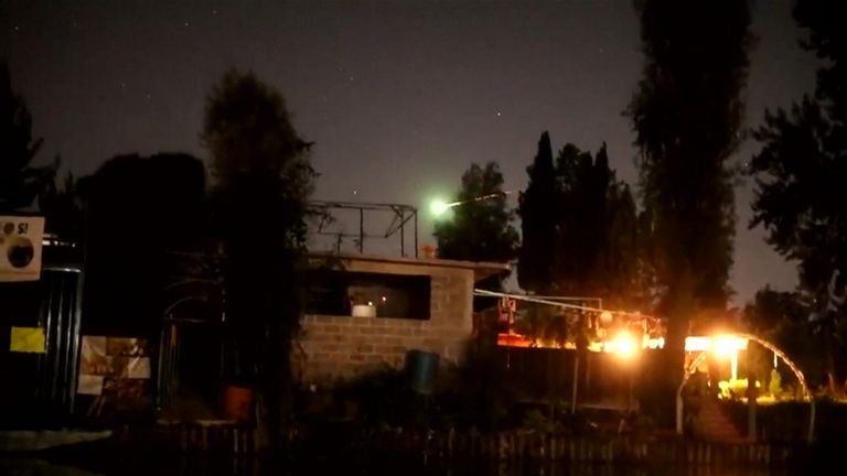 A bright meteor lit up the sky of Mexico City's Xochimilco neighbourhood in the early hours of Sunday.