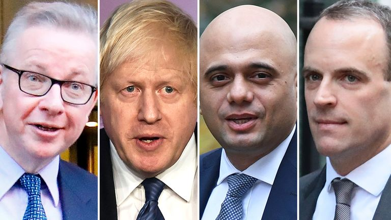 Michael Gove, Boris Johnson, Sajid Javid, Dominic Raab