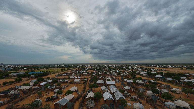 The world's largest refugee camp is in Dadaab, Kenya
