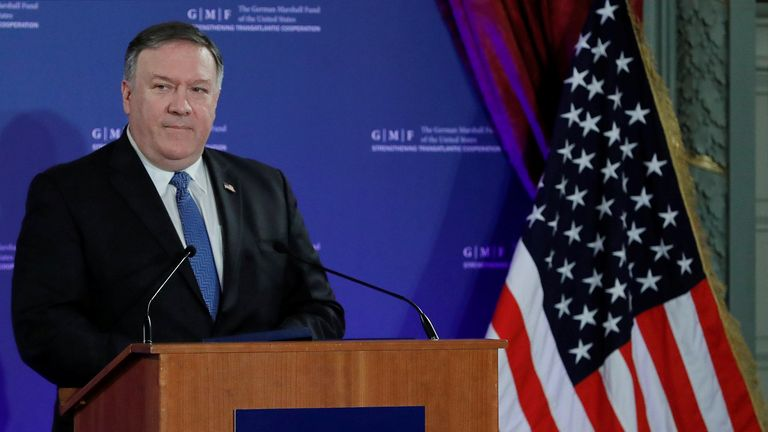 """Mike Pompeo said Donald Trump is building a """"new liberal order"""""""