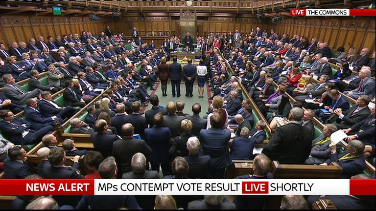 MPs are debating a contempt motion