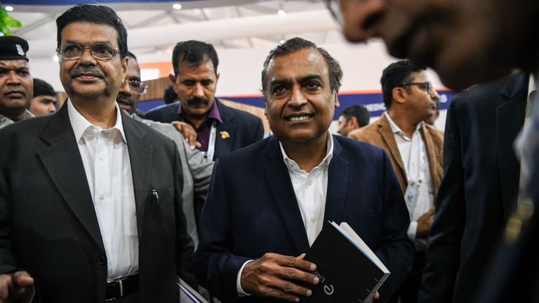 Mukesh Ambani is thought to be worth up to £37.5bn