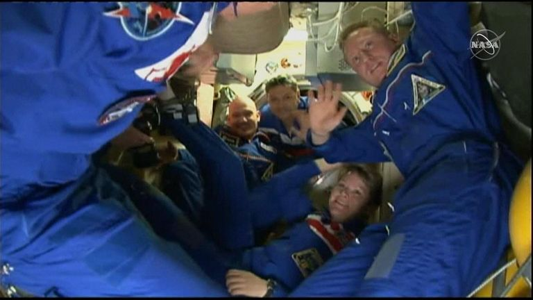 Astronauts have arrived on the International Space Station, on the first crewed Soyuz rocket launch since a recent failure.