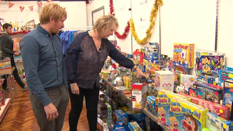 The family raised £2,000 to buy presents for children who may have gone without