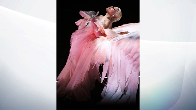 Lady Gaga performs onstage during the 60th Annual Grammy Awards