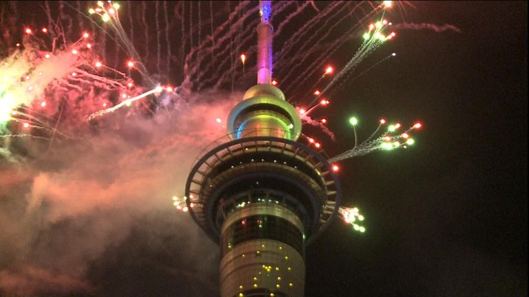 Auckland was the first major city to welcome 2019