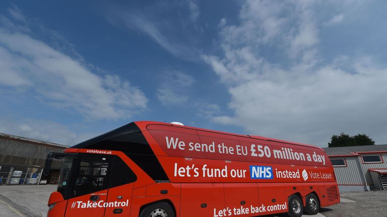 The infamous Vote Leave NHS battle-bus