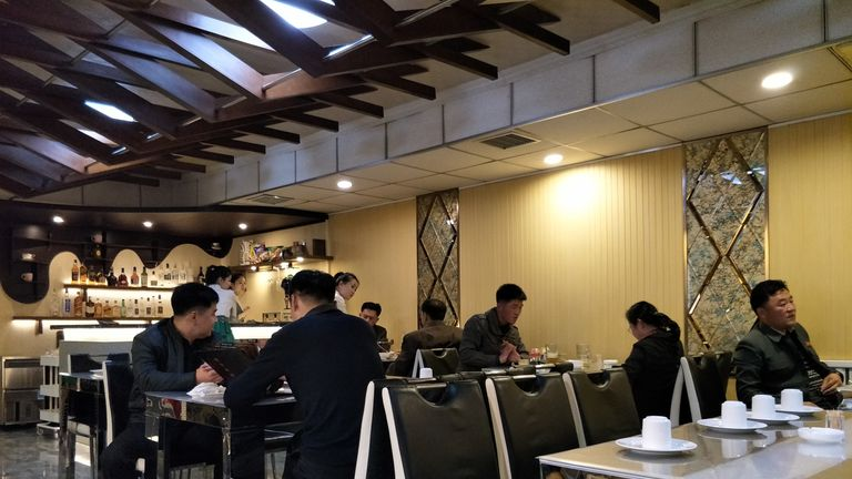 A North Korean restaurant. Pic: Alek Sigley