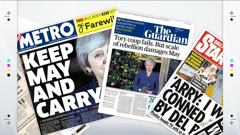 Thursday papers