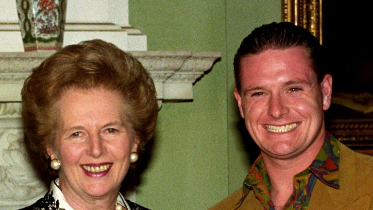 Paul Gascoigne and Margaret Thatcher - Number 10, Downing Street, London 29/10/1990