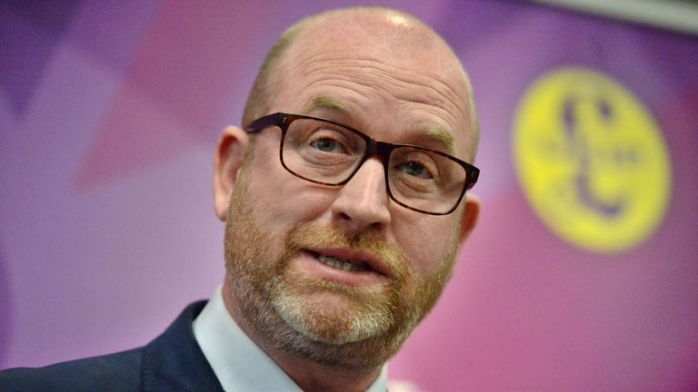 Ukip leader Paul Nuttall speaking at a policy launch event in Gt George Street, London.