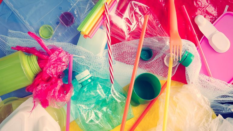 School leaders are being urged to cut the use of plastic items such as straws and bottles