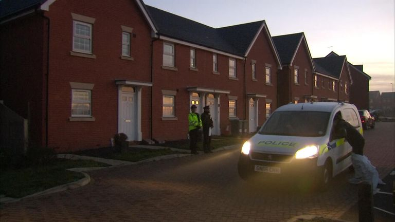 Two children found at the property were later pronounced dead in hospital