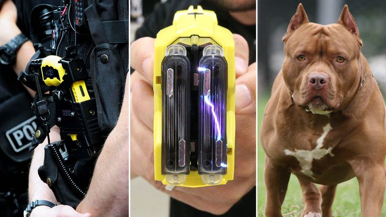 Police have fired Tasers at children as young as 13, elderly people and dozens of animals in the last three years