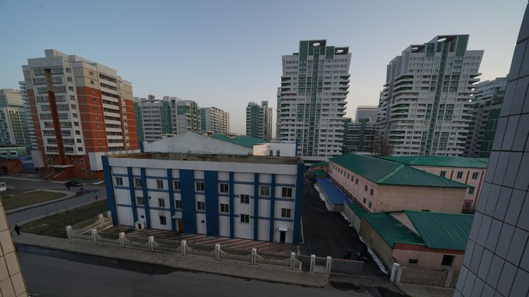 Buildings in Pyongyang. Pic: Alek Sigley