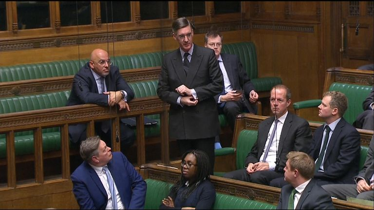 Leading Tory Brexiteer Jacob Rees-Mogg told the Commons that he had confidence in the prime minister after she won the confidence vote.