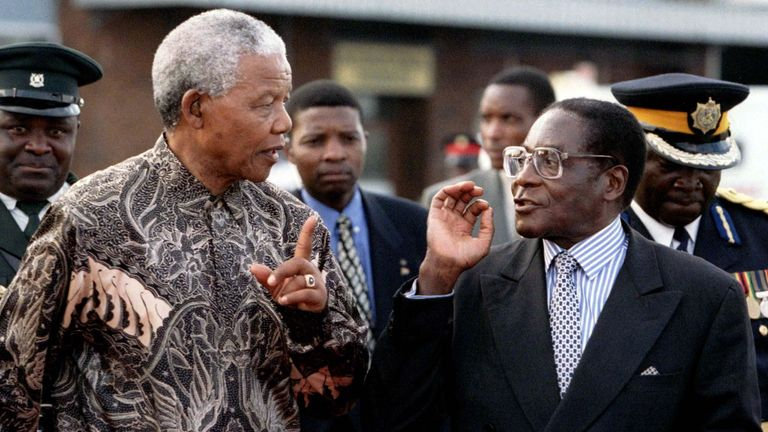Robert Mugabe was critical of Nelson Mandela