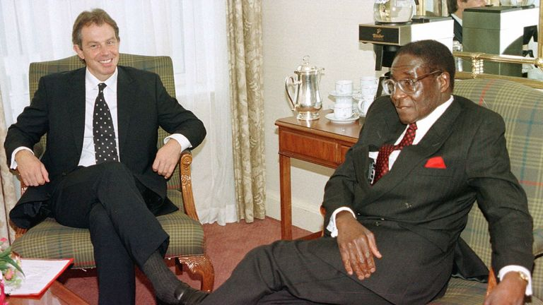 Mugaba claimed Tony Blair was 'troublesome' in his younger years