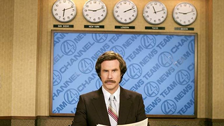 Ron Burgundy to get his own podcast and it's kind of a big