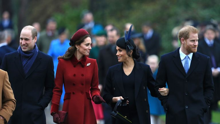 The first of the Royal Arrivals on Christmas Day in Norfolk.