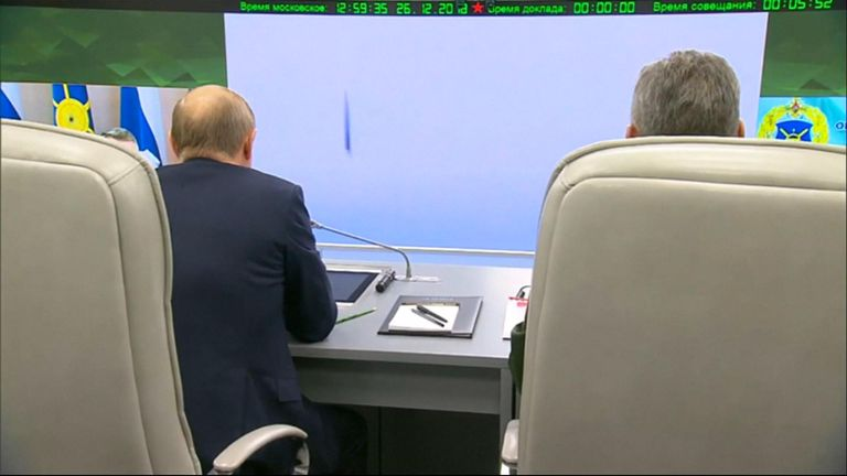 President Putin watched the launch
