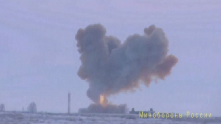 The Avangard missile hit a target 3,700 miles away, Russia said