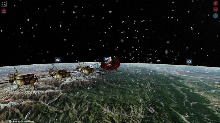 Santa being tracked by NORAD