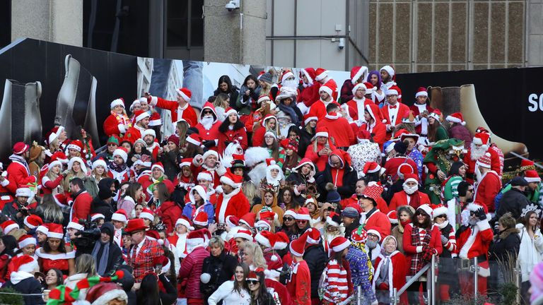 SantaCon revellers in New York